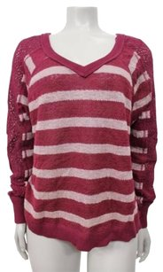 Free People We The Fluffy Swit Striped Lightweight Knit Xstp Sweater