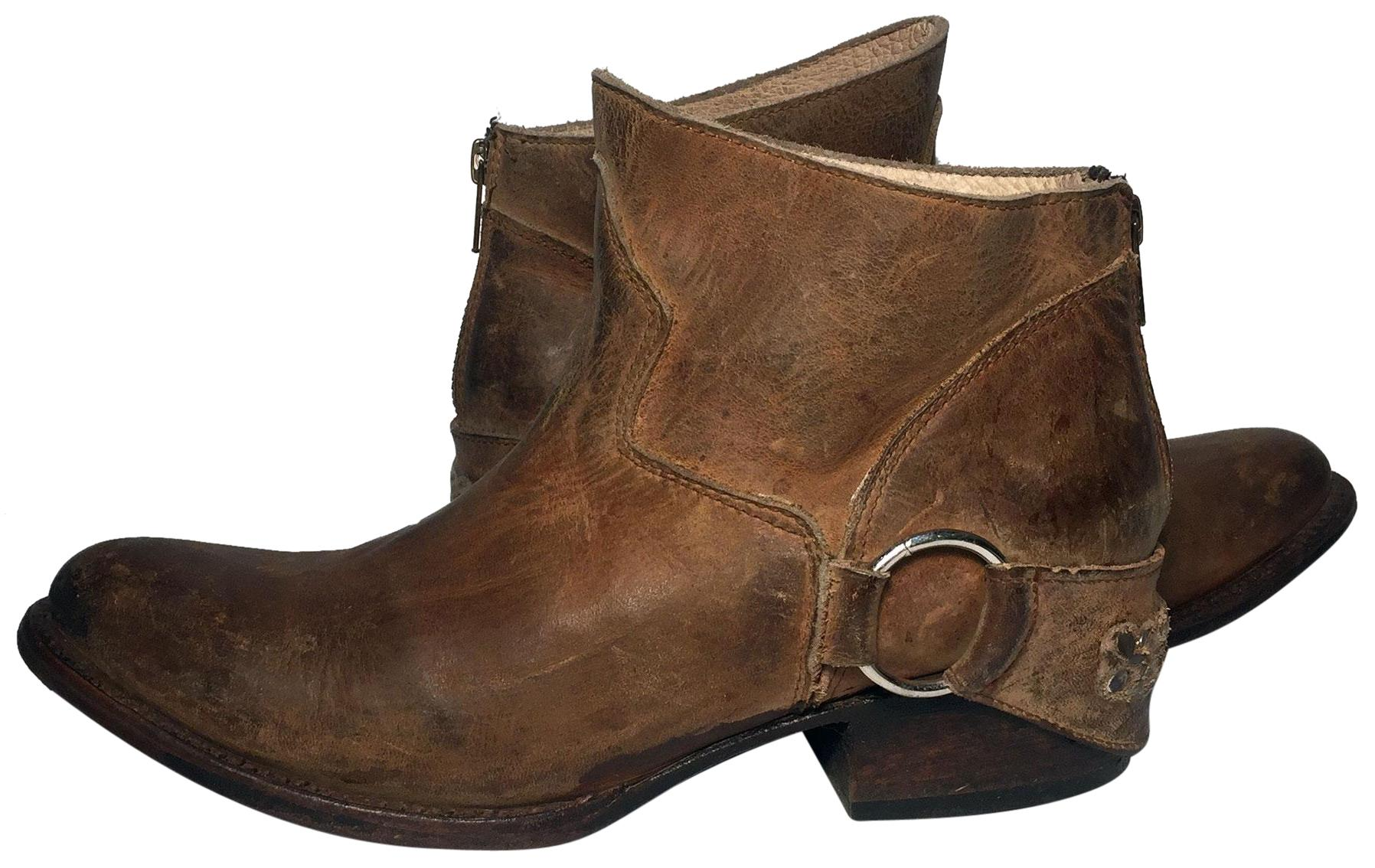 freebird brown hotel leather s boots booties