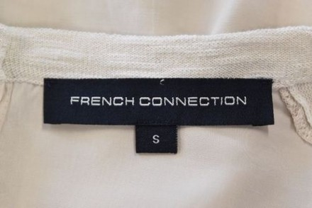 French Connection Womens Beige Knit Top Cotton Long Sleeve Shirt Casual 60%OFF