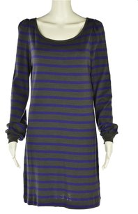 French Connection short dress Gray Womens Striped Shirt Above Knee on Tradesy