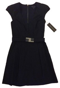 French Connection V-neck Mini Belted Dress