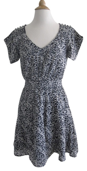 French Connection Vintage Floral Print Cotton Rayon Viscose Short Sleeves Dress