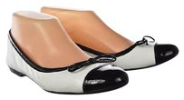 French Sole Fsny Womens Color Block Ballet Slip On Casual White Flats