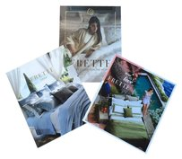 Frette Bundle of 3 Frette catalogs look books (fine bed linens)