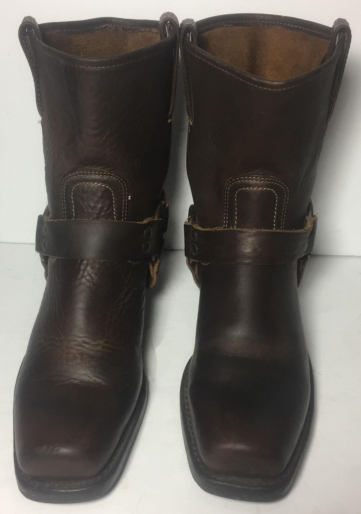 c53d1b3fe605 ... Frye Brown Brown Brown 77455 Harness 8 R Pull On Motorcycle Women s  Boots Booties Size ...