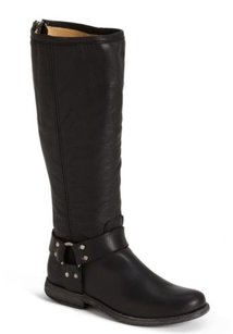 Frye Phillip Harness Riding Black Boots