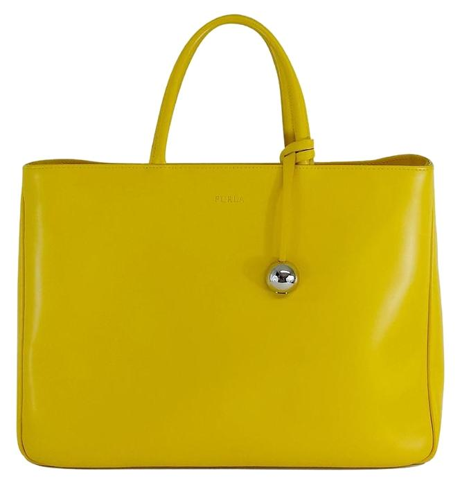 Furla Large Leather Yellow Tote Bag | Totes on Sale