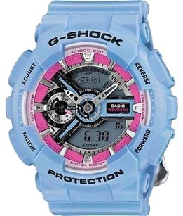 G-Shock Blue G-shock Gmas110f-2acr Mens Watch Analog-digital Display Resin Strap