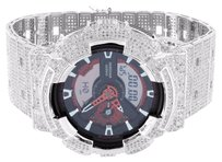 G-Shock Iced Out G Shock Watch White Cubic Zirconia Custom Mens Ga110nm-4acr Mens Mm