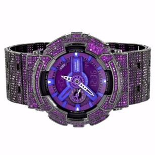 G-Shock Purple G-shock Watch Custom Purple Simulated Diamonds Iced Out Gd110-hc-1a Mens