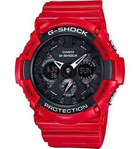 G-Shock Red G Shock Ga201rd-4a Wrist Watch Black Dial Limited Edition Analog Digital Men