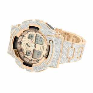 G-Shock Rose Gold Tone G-shock Watch Custom Mm Simulated Diamonds Iced Out Gd100-1b