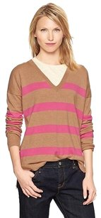 Gap Eversoft V-neck Striped Sweater