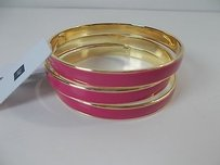 Gap Gap Pink Enamel Gold Stackable Bangle Set Of Each Set Of