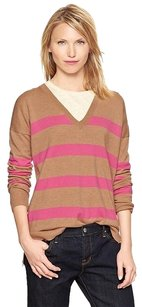 Gap V-neck Striped Eversoft Sweater