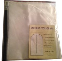 Garmet Storage Bag Travel Zipper Vacation White Frost Semi Transparent Travel Bag