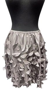 Garnet Hill Smoky Silk Skirt Gray