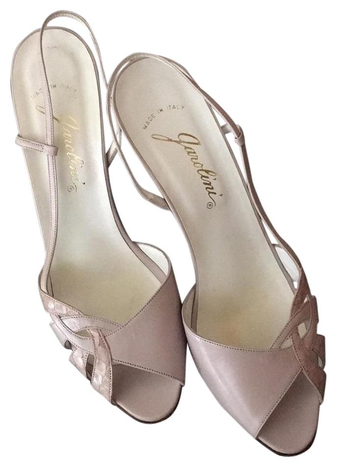 Garolini Lilac leather slingbacks