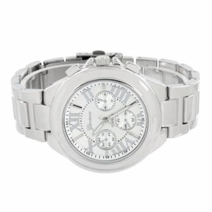 Geneva Silver Tone Watch Roman Number Stainless Steel Back Classy Water Resistant