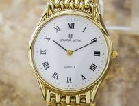 Geneve Vintage Universal Geneve Quartz Original Swiss Mens Dress Luxury Watch 2000s D75