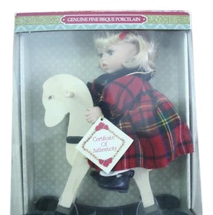 Genuine Porcelain Bisque Doll Vintage Genuine Porcelain Bisque Doll on Horse