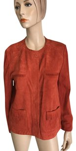 GERARD DAREL Coral Leather Jacket