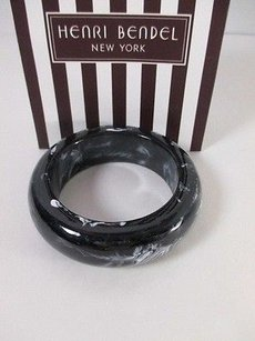 Gerard Yosca Gerard Yosca Henri Bendel Black White Swirl Thick Bangle Bracelet Nibag