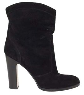 Gianvito Rossi Womens Stylish Suede High Heel Pump Ankle Black Boots