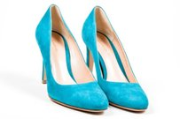 Gianvito Rossi Teal Green Pumps