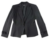 Giorgio Armani 38 Black Embellished Coat