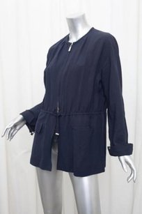Giorgio Armani Womens Navy Blue Jacket