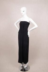 Giorgio Armani Black Silk Strapless Dress