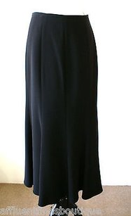 Giorgio Armani Label Long Flowy Silk Or Skirt Blacks