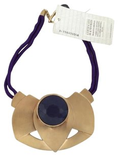 Giorgio Armani Giorgio Armani Gold And Purple Statement Necklace Nwt