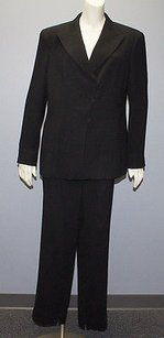 Giorgio Armani Giorgio Armani Black Crepe Double Breasted Blazer Pant Suit Pc Hs2763