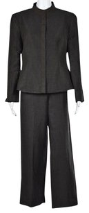 Giorgio Armani Giorgio Armani Womens Brown Pant Suit 4644 Striped Wtw Jacket Trousers