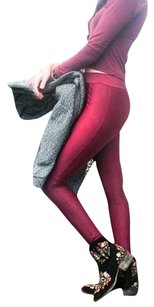 Gitanilla Pants Shiny Maroon Leggings