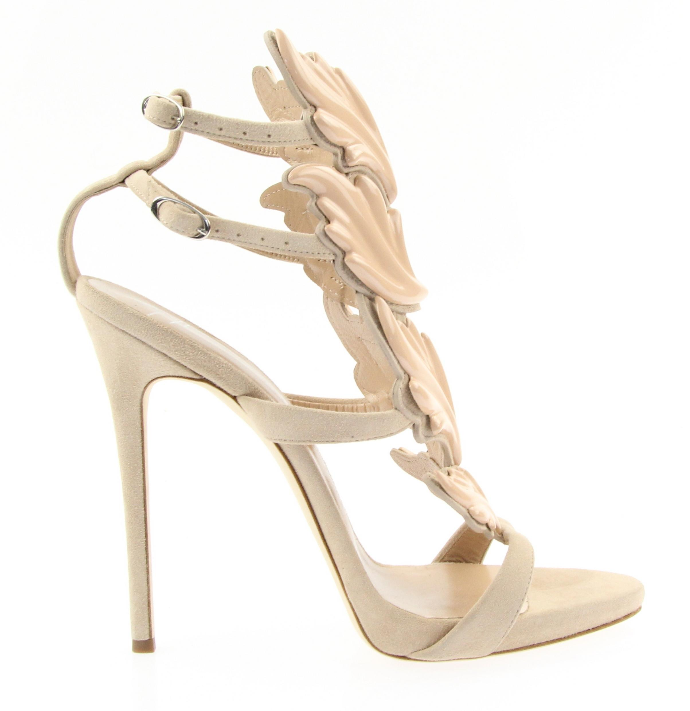 Giuseppe Zanotti Nude Coline Wings 110 Pumps Size EU 40 (Approx. US 10) Regular (M, B)