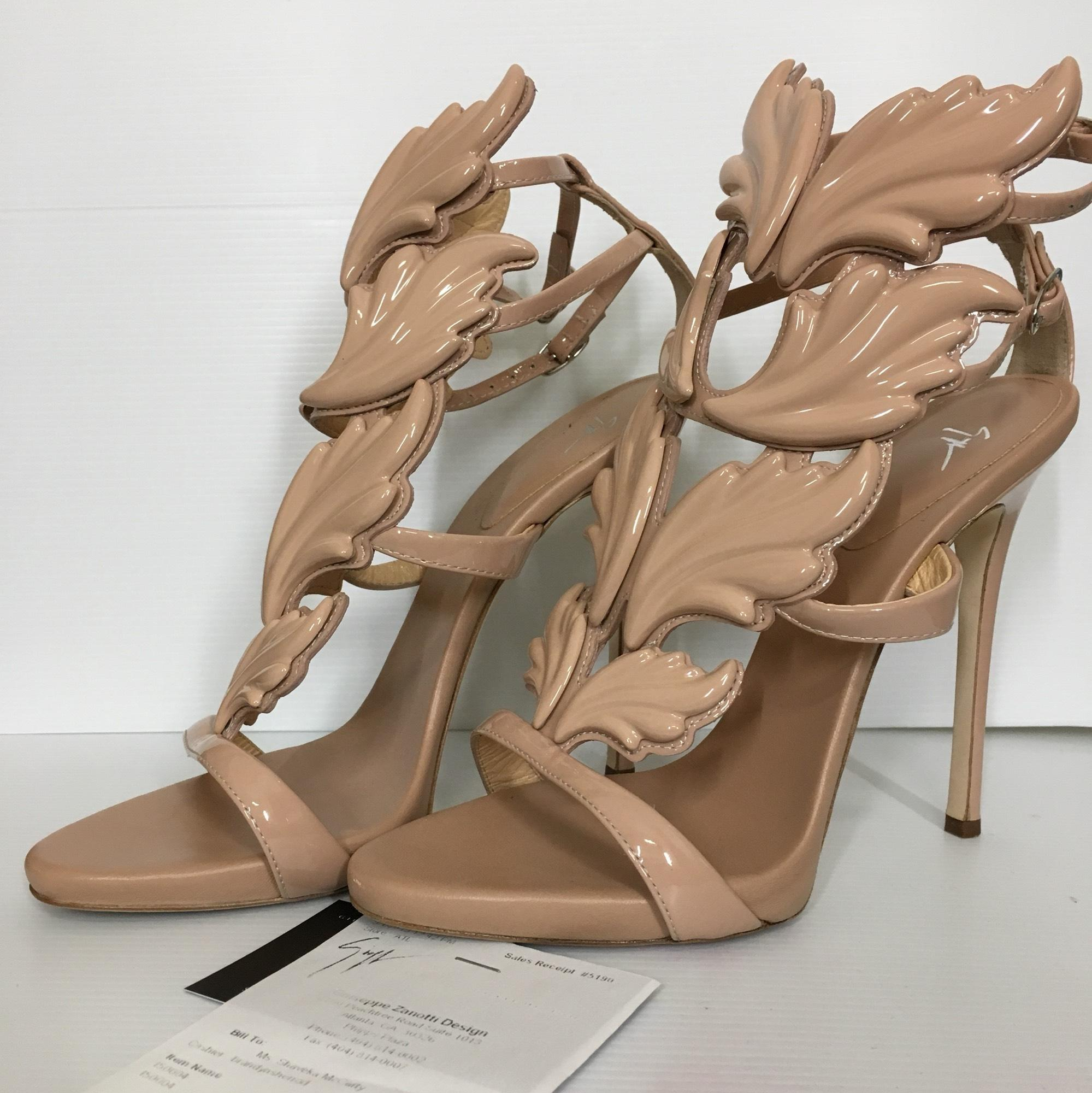 1dc7643401e US Giuseppe Zanotti Nude Coline Wings 110mm Pumps Size Size Size EU 38.5 ( Approx. US ...