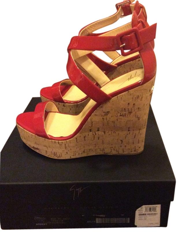181cba908d3b Giuseppe Zanotti Red Red Red Wedges Size US 7 bba13a - boxing ...