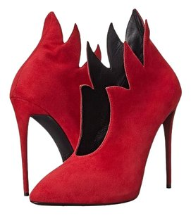 Giuseppe Zanotti Bootie Leather Flame Red Boots