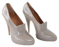 Givenchy Leather Rounded Point Toe Pump Heels Xlnt Gray Platforms