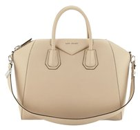 Givenchy Antigona Leather Satchel in Beige