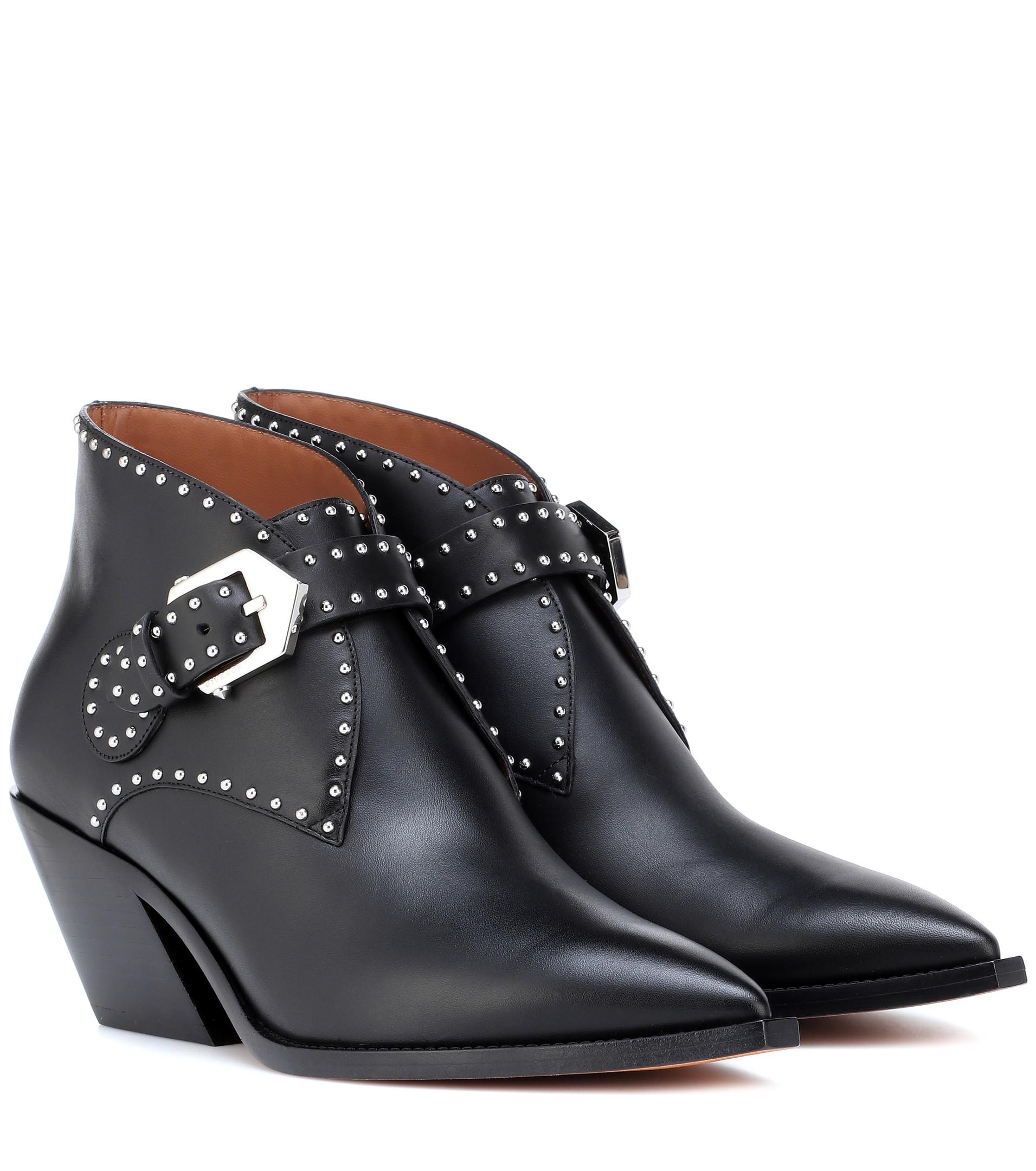 Givenchy Black Elegant Studded Western Boots/Booties Size EU 37 (Approx. US 7) Regular (M, B)
