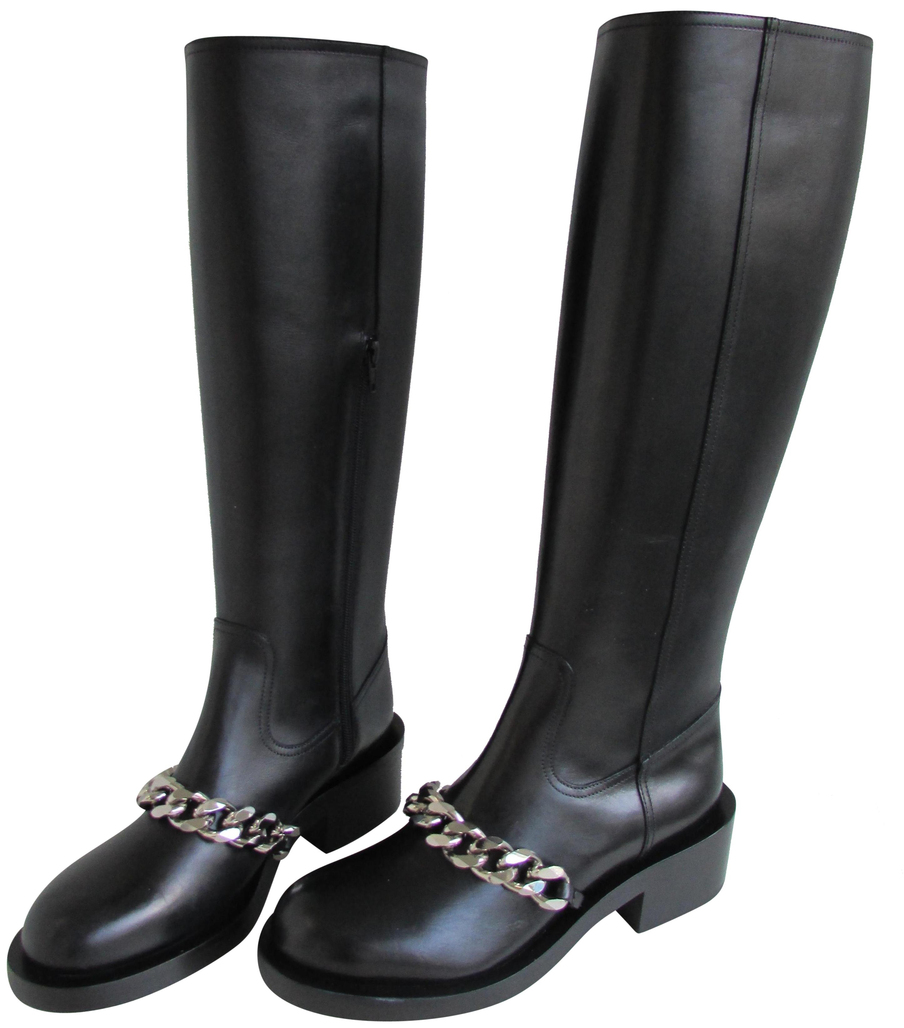 Givenchy Boots/Booties Black Leather Pira Chain Boots/Booties Givenchy Size EU 40 (Approx. US 10) Regular (M, B) cfec97