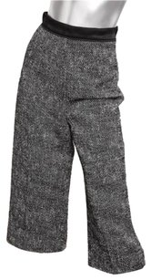 Givenchy And White Tweed High Waisted Crop Trousers Capri/Cropped Pants Black