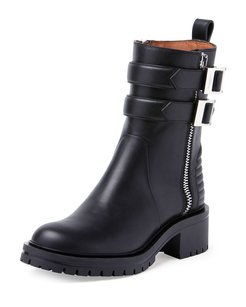 Givenchy Double Buckled Black Boots