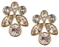 Givenchy Givenchy Gold-Tone Crystal Stud Earrings