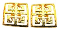 Givenchy Givenchy Signed Open Work Square Earrings