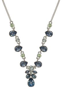 Givenchy Givenchy Silvertone Blue Y-Necklace